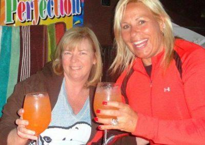 Happy people drinking cocktials california