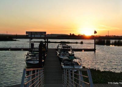 Motor boats at Stockton delta water sport trip