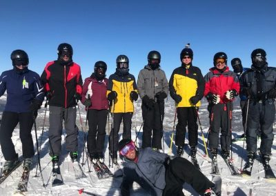 CCSC skier group in Big Sky Montana