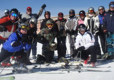 skiing group from Culver city ski club Los Angeles